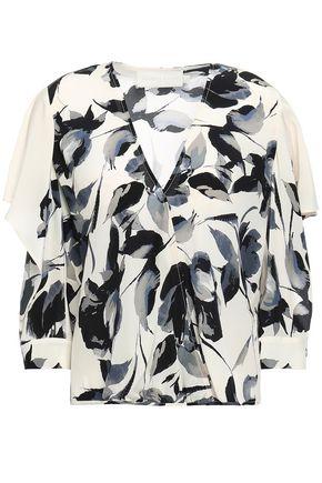 MICHELLE MASON Printed silk crepe de chine blouse