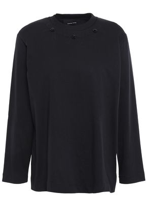 SIMONE ROCHA Bead-embellished cotton-jersey top