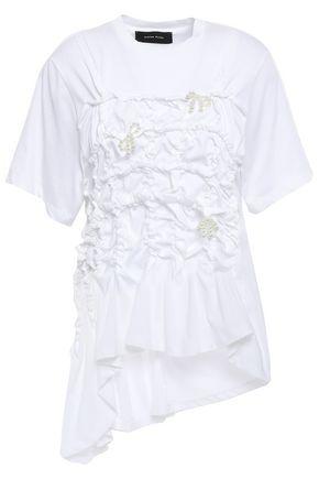 SIMONE ROCHA Bow-embellished cotton-jersey T-shirt
