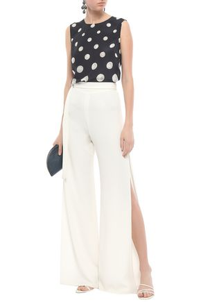 ISOLDA Polka-dot silk top