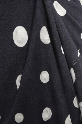 ISOLDA Yvonne polka-dot jersey mini dress