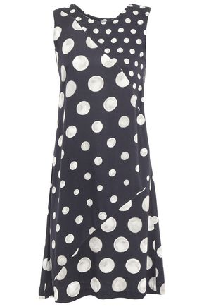 ISOLDA Yvonne polka-dot jersey mini dress