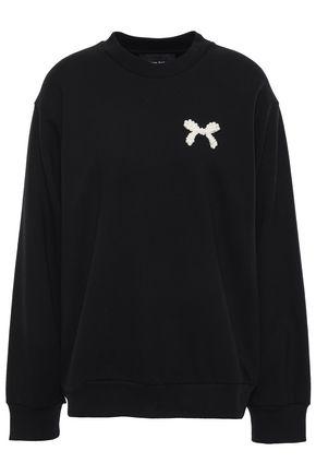 SIMONE ROCHA Faux pearl-embellished knitted sweatshirt