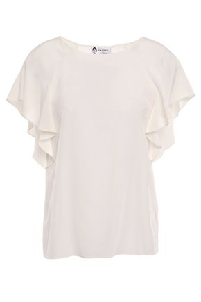 LANVIN Draped silk crepe de chine blouse