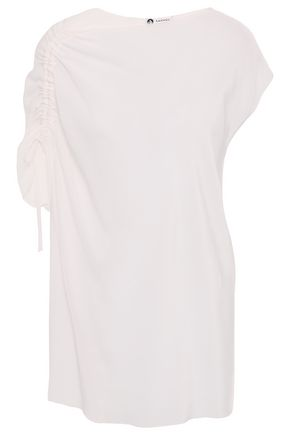 LANVIN Ruched silk crepe de chine top
