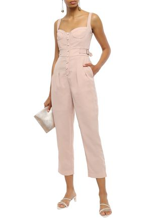 ALICE McCALL Cropped crepe jumpsuit