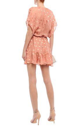 MICHELLE MASON Fil coupé silk-blend chiffon mini dress