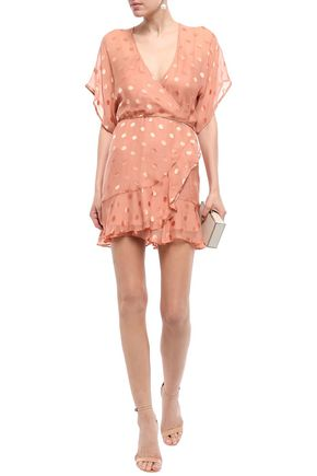 456753a45e51 MICHELLE MASON Fil coupé silk-blend chiffon mini dress