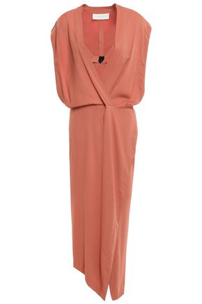 MICHELLE MASON Bra wrap-effect crepe midi dress