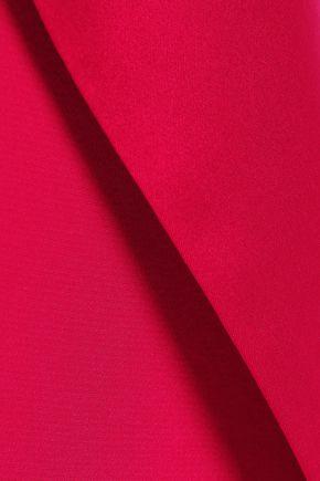 MICHELLE MASON Wrap-effect satin-trimmed silk crepe de chine mini dress