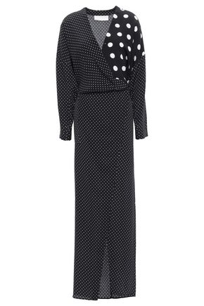 MICHELLE MASON Polka-dot silk crepe de chine maxi dress