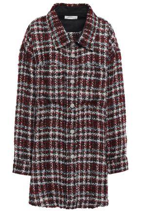 FAITH CONNEXION Oversized embellished bouclé-tweed shirt