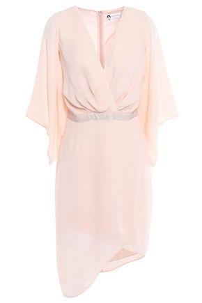 LANVIN Wrap-effect crepe mini dress