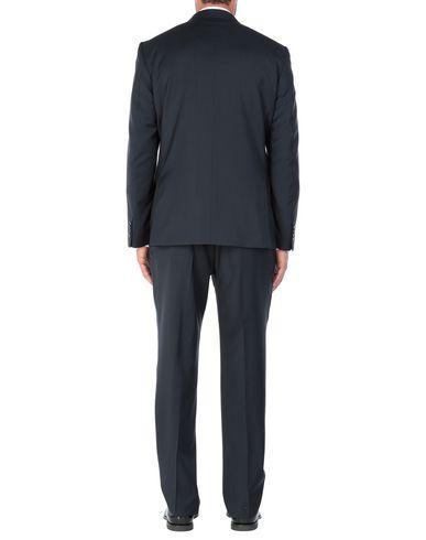 Фото 2 - Мужской костюм MARZOTTO темно-синего цвета