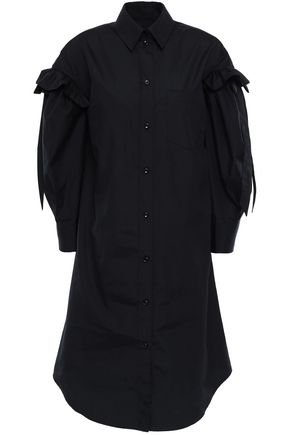 SIMONE ROCHA Bow-embellished cotton-poplin shirt dress