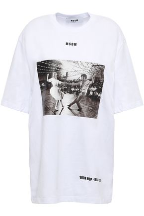 MSGM Printed cotton-jersey T-shirt