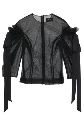 SIMONE ROCHA Cutout bow-detailed tulle blouse