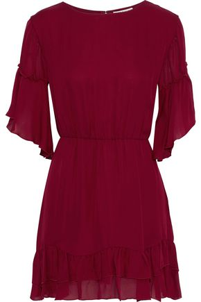 ALICE + OLIVIA Katrina tiered silk-voile mini dress