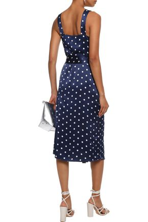 CAMI NYC Freddie polka-dot silk-charmeuse midi dress