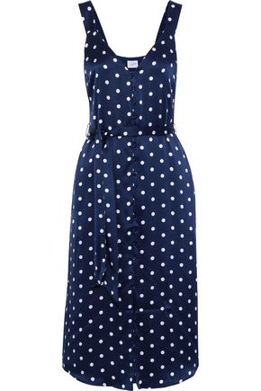 CAMI NYC Freddie polka-dot silk-charmeuse midi dress