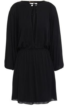 SAINT LAURENT Stretch-crepe mini dress