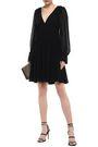 STELLA McCARTNEY Ruched silk-georgette mini dress