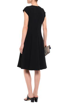 STELLA McCARTNEY Lace-up stretch-crepe dress