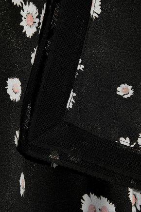 JASON WU Lace-trimmed floral-print crepe de chine camisole