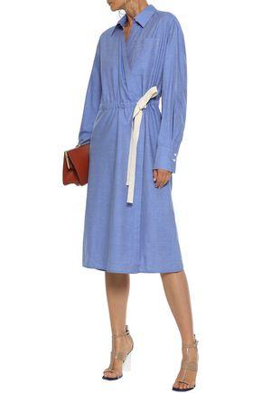 JASON WU コットンシャンブレー ミディラップドレス