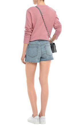 J BRAND Frayed faded denim shorts