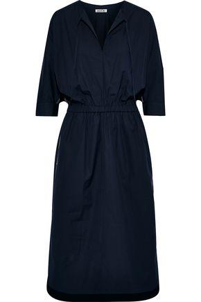 JASON WU Gathered cotton-blend poplin dress