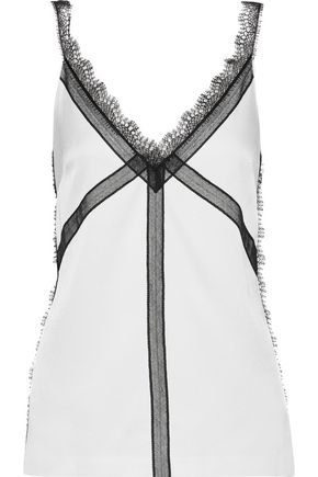 JASON WU Lace-trimmed charmeuse camisole