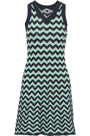 M MISSONI Fluted crochet-knit dress