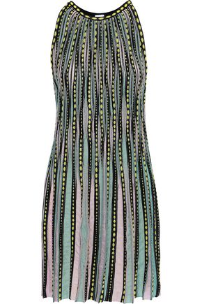 M MISSONI Ribbed crochet-knit mini dress