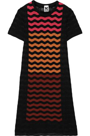 M MISSONI Striped crochet-knit mini dress