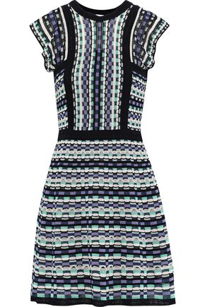 M MISSONI Crochet-knit cotton-blend mini dress