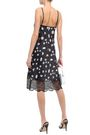 PACO RABANNE Lace-trimmed floral-print stretch-satin dress