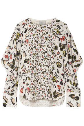 GREY JASON WU Ruffled printed silk crepe de chine blouse
