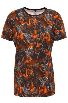 VERSUS VERSACE Printed stretch-cotton jersey T-shirt
