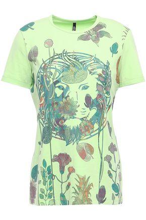 VERSUS VERSACE Printed stretch cotton-blend jersey T-shirt