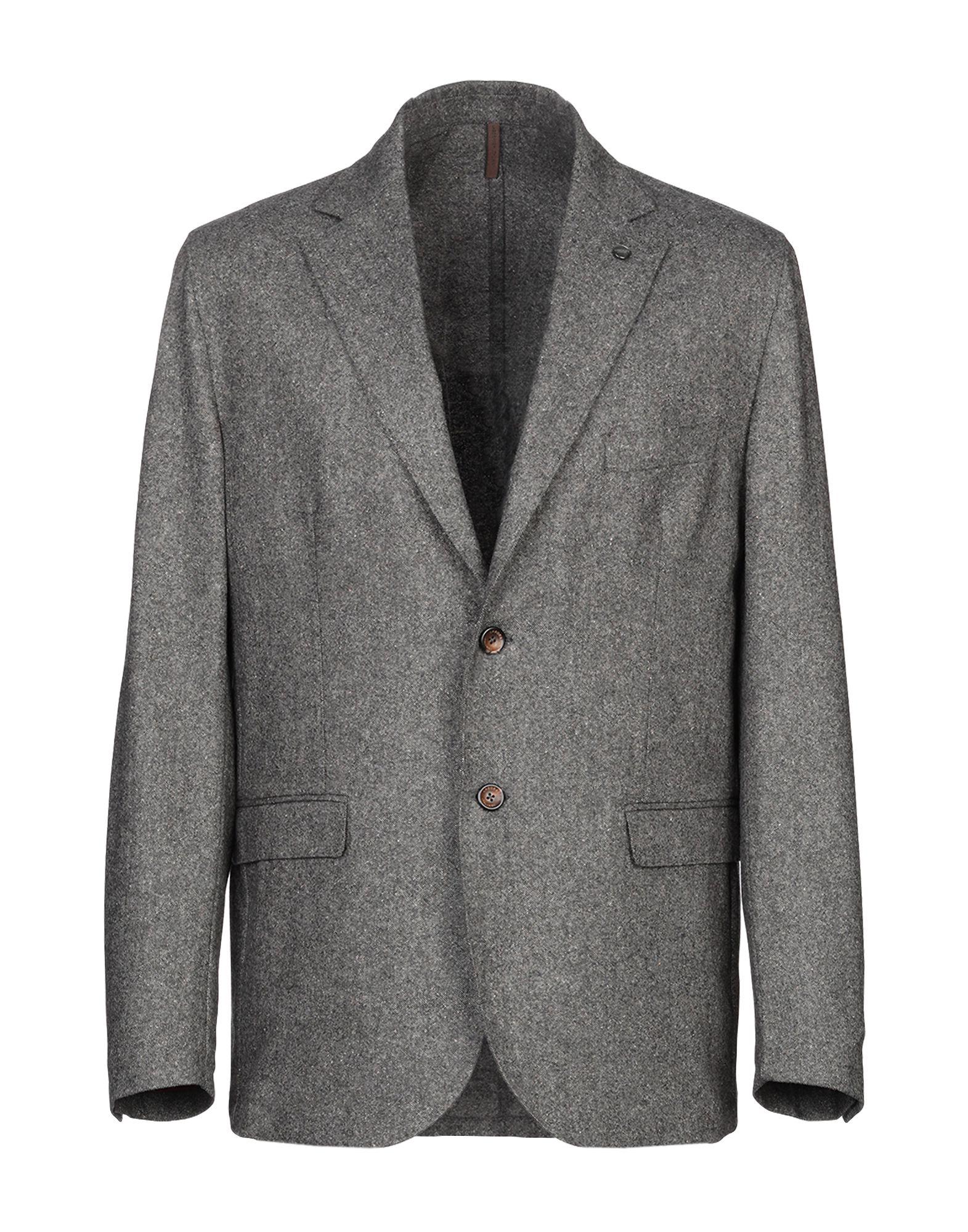 《期間限定 セール開催中》LABORATORI ITALIANI メンズ テーラードジャケット 鉛色 46 バージンウール 78% / ナイロン 20% / シルク 2%