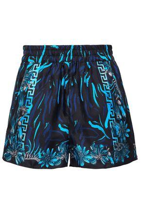 VERSUS VERSACE Printed silk-twill shorts