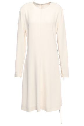 STELLA McCARTNEY Lace-up stretch-crepe dress
