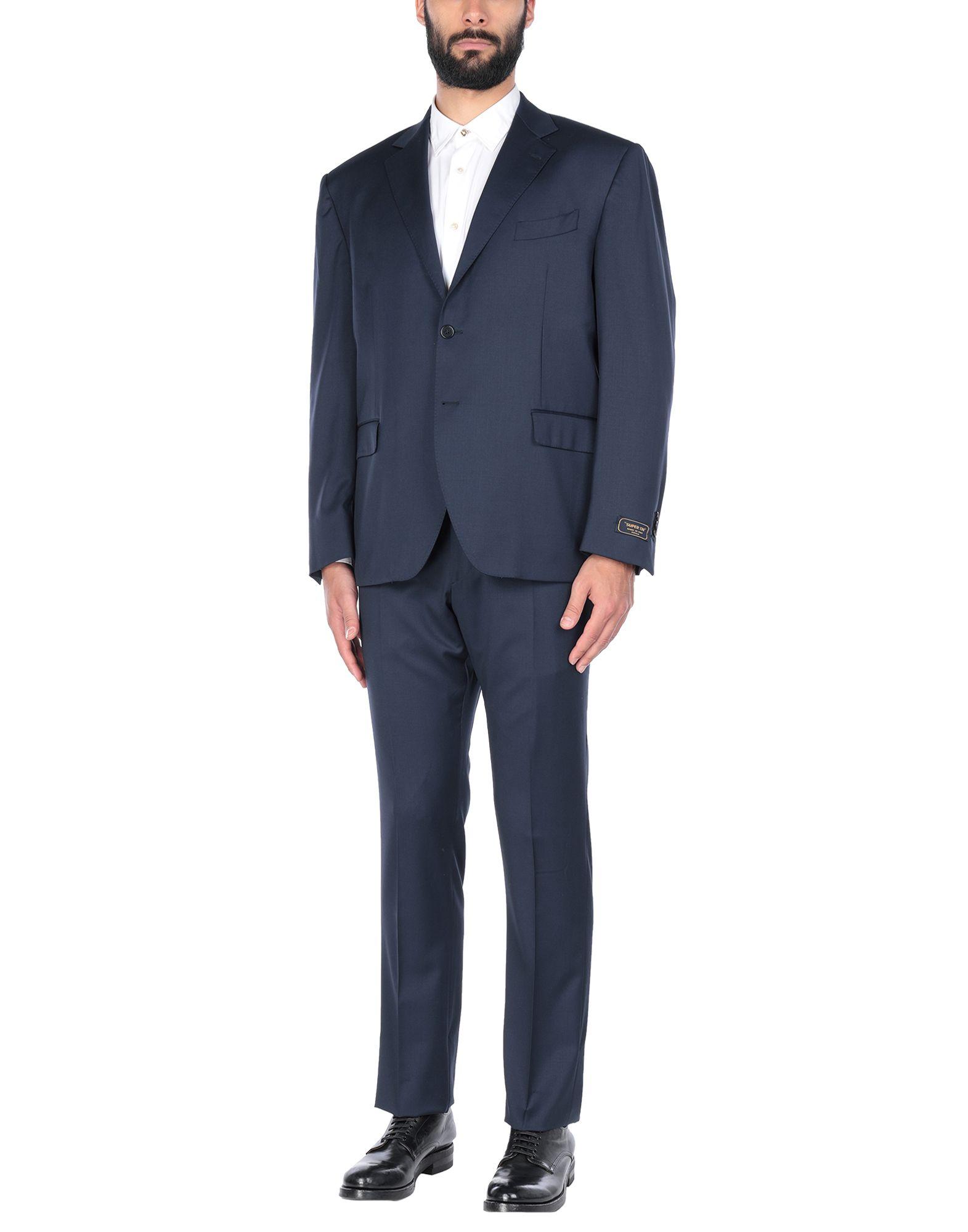 《セール開催中》CONTINI? メンズ スーツ ダークブルー 58 ウール 100%