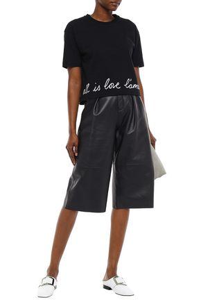 STELLA McCARTNEY Embroidered cotton-blend jersey T-shirt