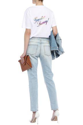 STELLA McCARTNEY Printed stretch-cotton jersey T-shirt