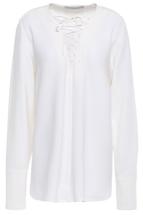 STELLA McCARTNEY Stretch-crepe blouse