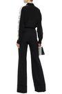 STELLA McCARTNEY Lace-trimmed cotton-blend crepe de chine shirt