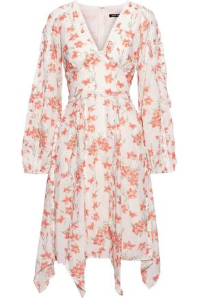 LOVE SAM Ruffle-trimmed floral-print cotton-blend dress