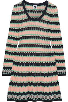 M MISSONI Striped crochet-knit cotton-blend dress